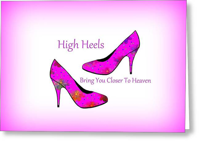 High Heel Heaven Greeting Card by Kathleen Sartoris