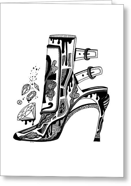 High Heels And Diamonds Greeting Card by Kenal Louis