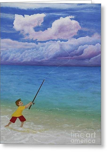 Greeting Card featuring the painting High Hopes by Cindy Lee Longhini