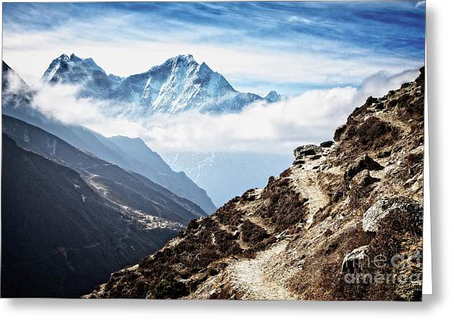High In The Himalayas Greeting Card