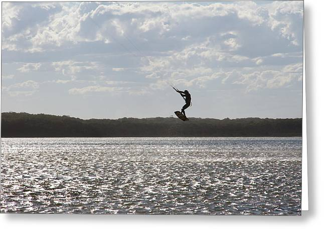 Greeting Card featuring the photograph High Jump  by Miroslava Jurcik