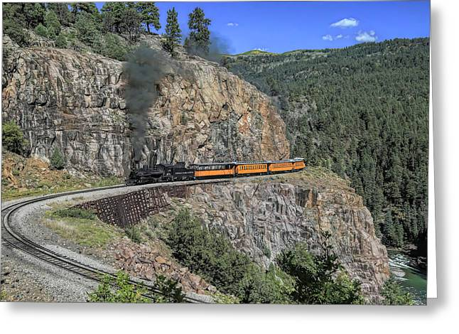 High Line Horseshoe Curve Greeting Card by Donna Kennedy