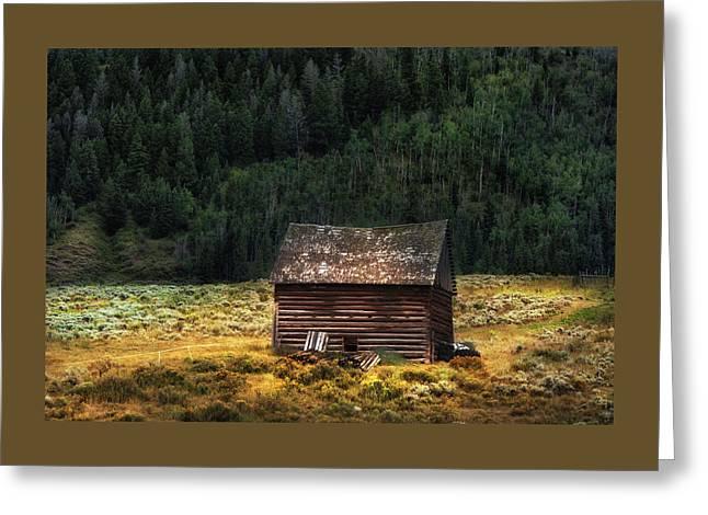 High Lonesome - Colorado Barn Greeting Card