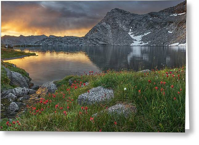 High Mountain Morning In Idaho Greeting Card by Leland D Howard