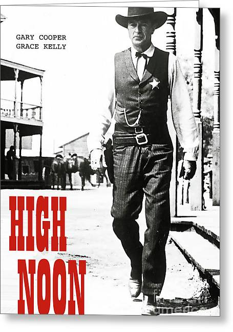 High Noon, Gary Cooper Greeting Card by Thomas Pollart