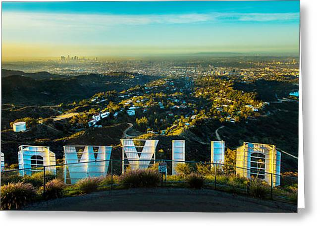 High On Hollywood Greeting Card by Az Jackson