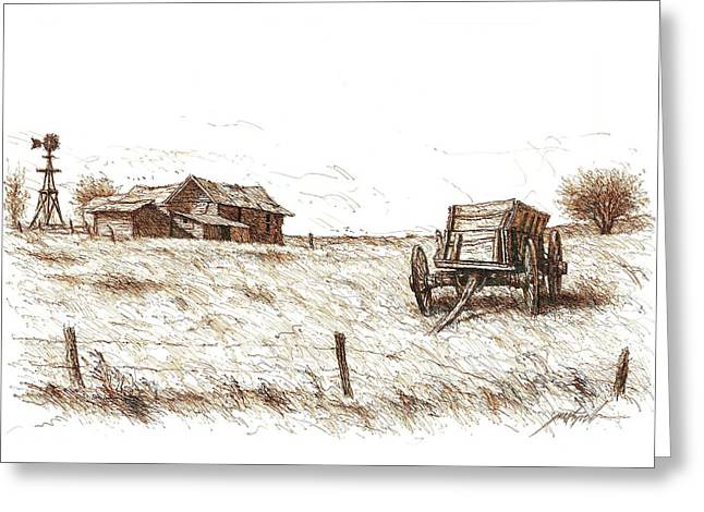 High Plains Quietude Greeting Card by Larry Prestwich