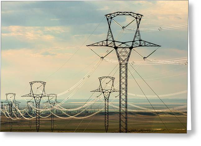 High Plains Voltage Greeting Card by Todd Klassy