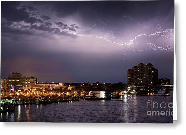 High Point Place Nights Greeting Card by Quinn Sedam