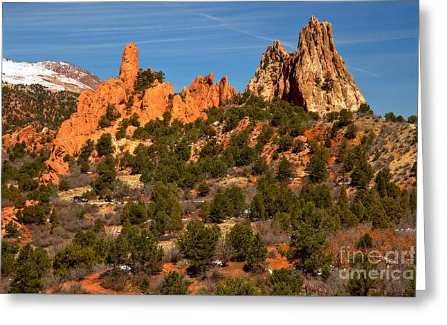 Greeting Card featuring the photograph High Point Rock Towers by Adam Jewell
