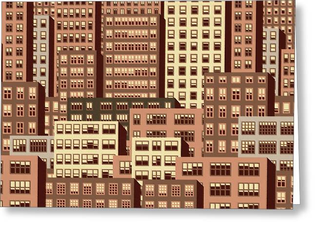 High Rise 5 Greeting Card by Robert Todd