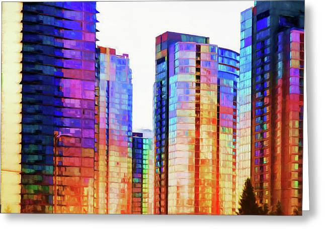 High Rise Abstract Greeting Card