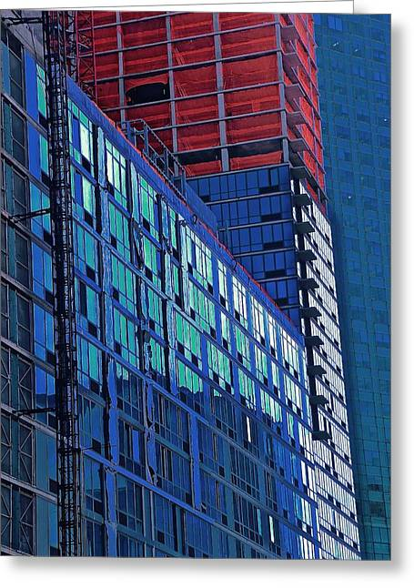 High Rise Greeting Card by Gillis Cone