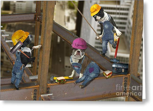 High Rise Lunch Greeting Card by Eric Chegwin