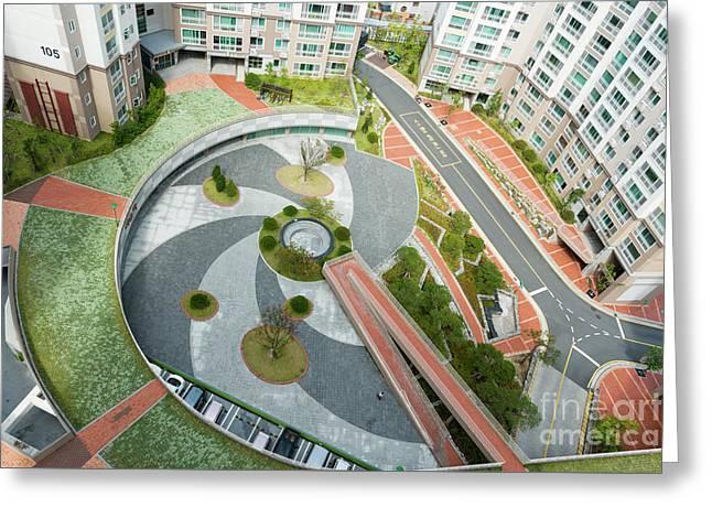 High Rise Residential Apartments At Namchang Greeting Card