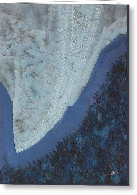 High Rockies Original Painting Greeting Card by Sol Luckman