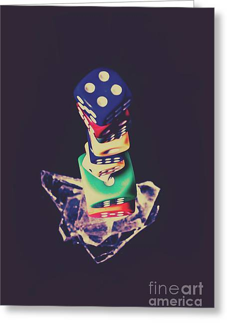 High Roller Luck Greeting Card by Jorgo Photography - Wall Art Gallery