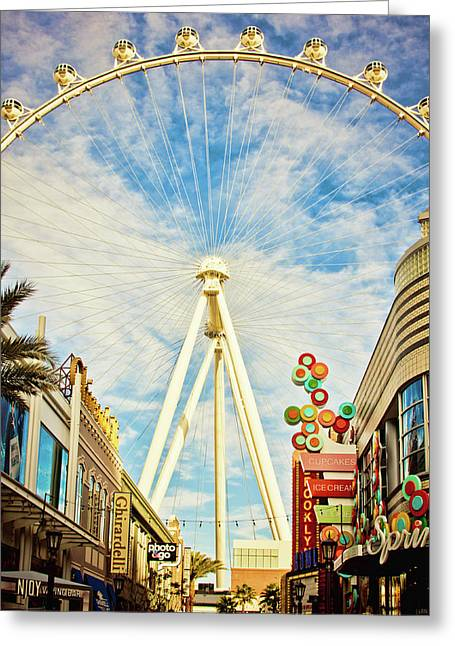 High Roller Wheel, Las Vegas Greeting Card