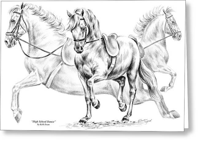 High School Dance - Lipizzan Horse Print Greeting Card