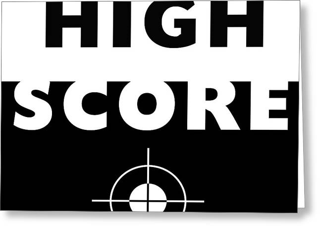 High Score- Art By Linda Woods Greeting Card