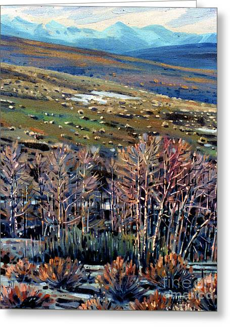 High Sierra Greeting Card by Donald Maier