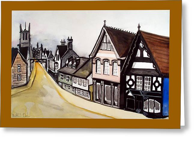 High Street Of Stamford In England Greeting Card