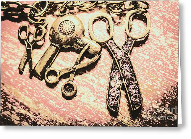 High Style Hairdresser Kit Greeting Card by Jorgo Photography - Wall Art Gallery