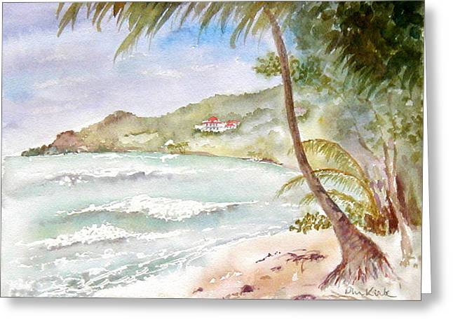 High Surf At Brewers Greeting Card