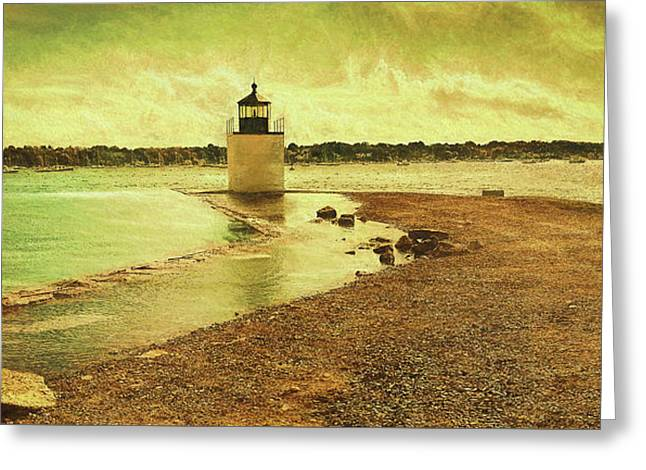 High Tide At Derby Lighthouse Greeting Card