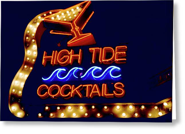 Greeting Card featuring the photograph High Tide Cocktails by Matthew Bamberg