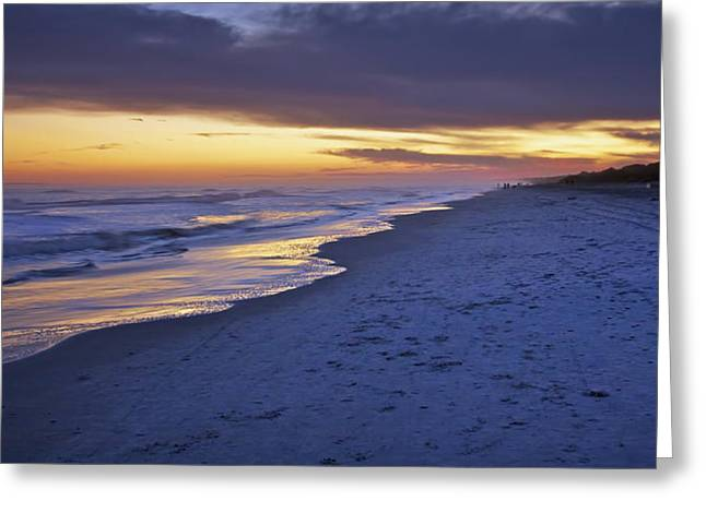 High Tide In Fading Light Greeting Card by Phill Doherty
