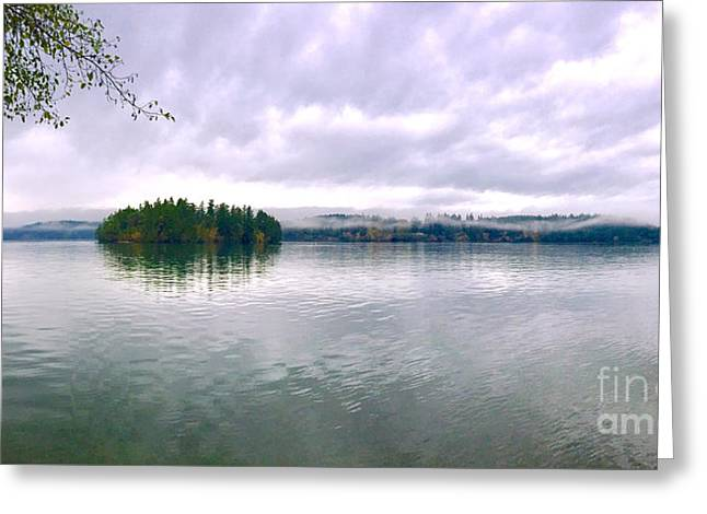 High Tide - Low Clouds Greeting Card by Sean Griffin