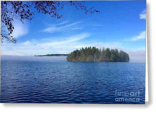 High Tide - Low Fog Greeting Card by Sean Griffin