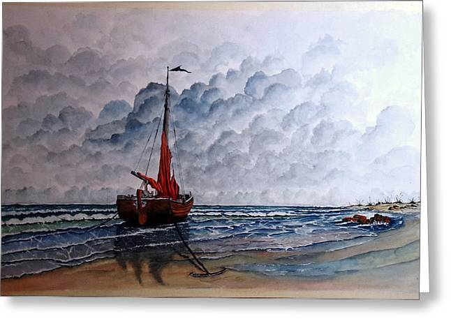 High Tide2 Sold Greeting Card by Richard Benson