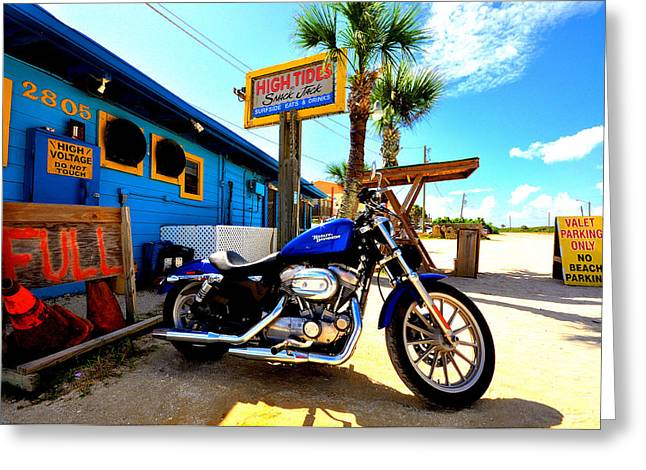 Flagler Greeting Cards - High Tides Harley Greeting Card by Andrew Armstrong  -  Mad Lab Images