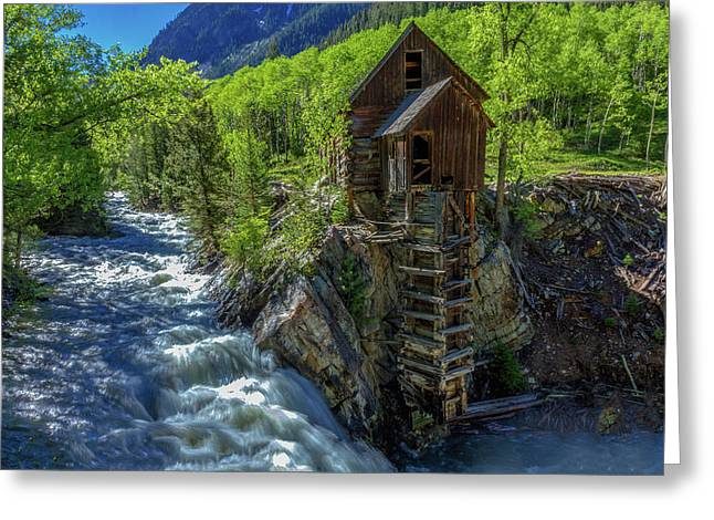 High Waters At The Mill  Greeting Card