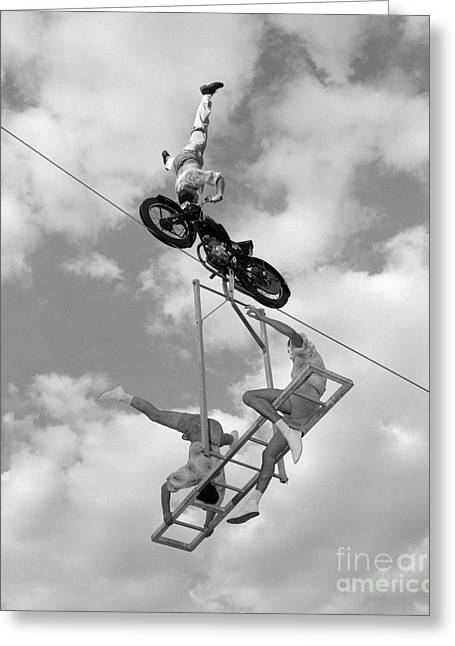 High-wire Act, C.1950-60s Greeting Card