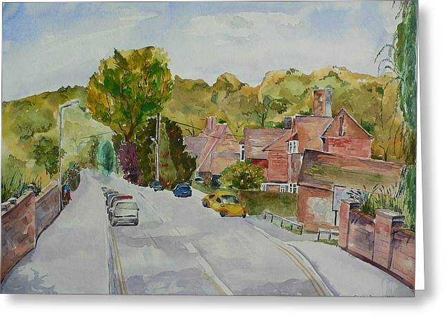 Greeting Card featuring the painting High Wycombe by Geeta Biswas