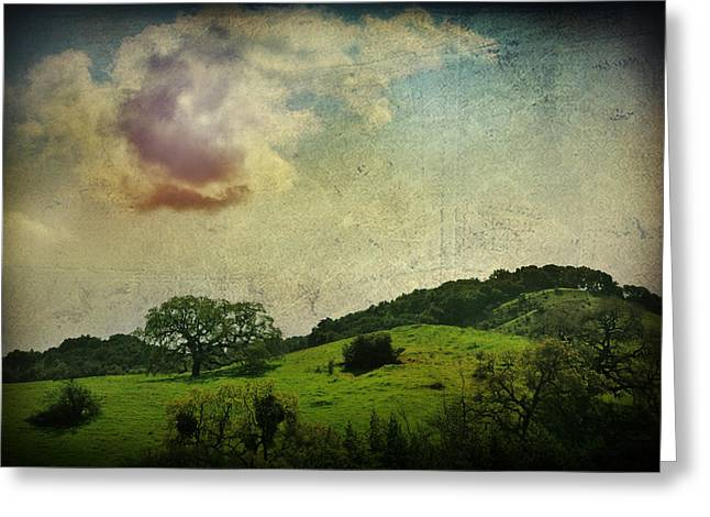 Textured Landscapes Greeting Cards - Higher Love Greeting Card by Laurie Search