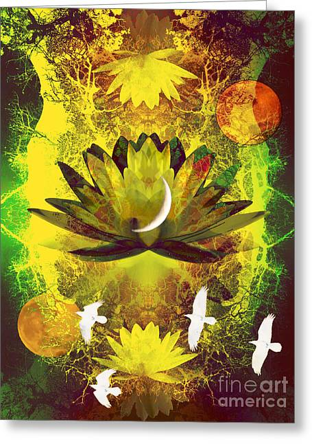 Higher Self Frequency Greeting Card by Robert Ball