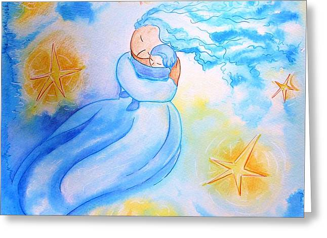 Higher Then The Stars Greeting Card by Gioia Albano