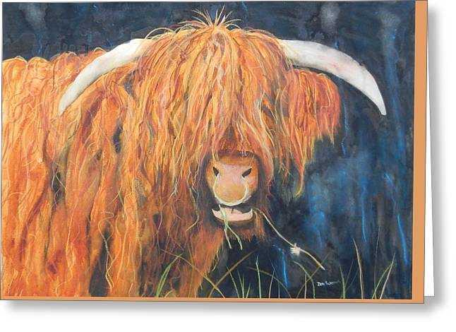 Highland Bullringer Greeting Card