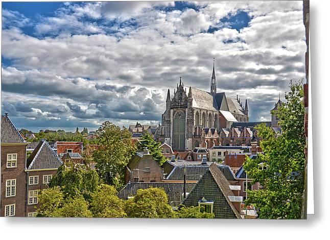 Highland Church Seen From Leiden Castle Greeting Card