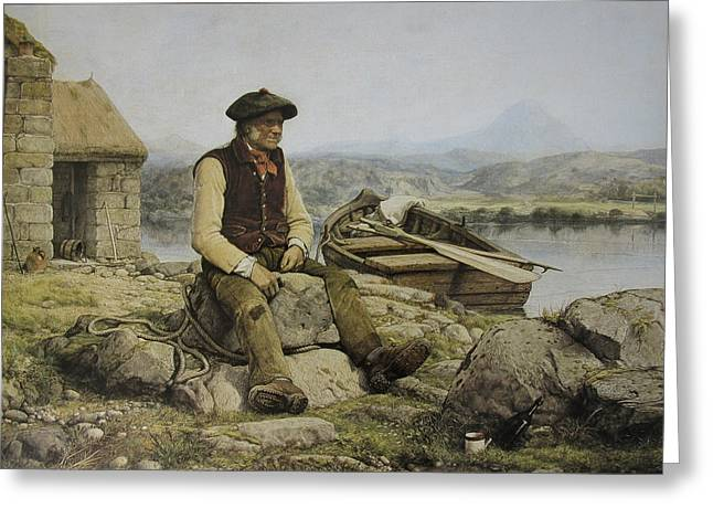 Highland Ferryman Greeting Card by Celestial Images