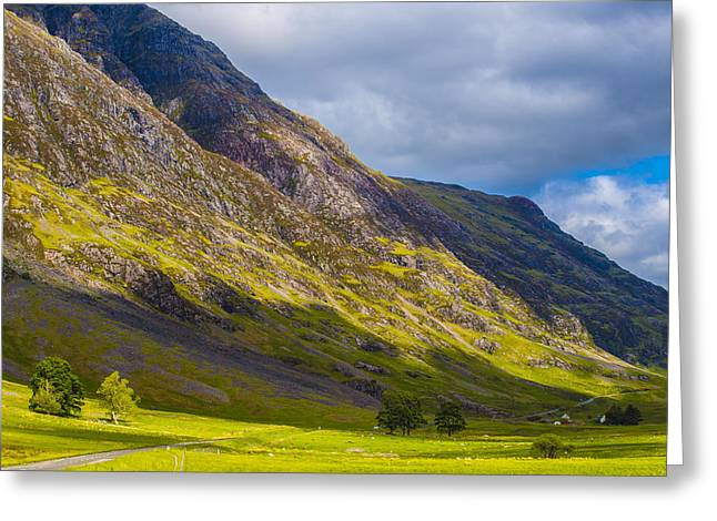 Greeting Card featuring the photograph Highland Hillside by Steven Ainsworth