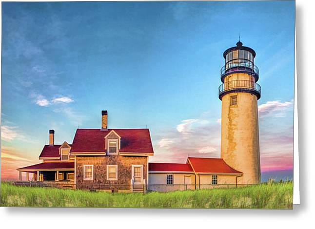 Greeting Card featuring the painting Highland Lighthouse by Christopher Arndt