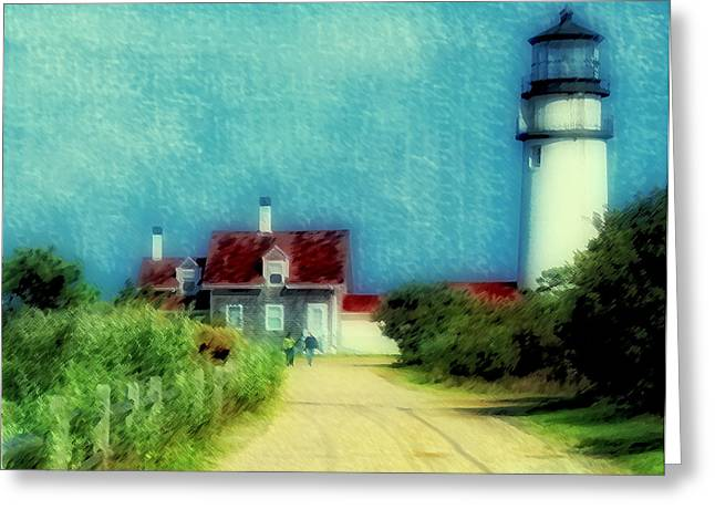 Highland Lighthouse II Greeting Card by Gina Cormier