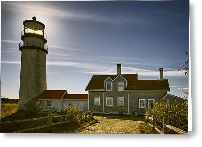 Highland Lighthouse Greeting Card by Joan Carroll