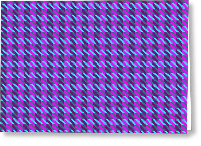 Highland Pink Houndstooth Pattern Greeting Card by Jane McIlroy