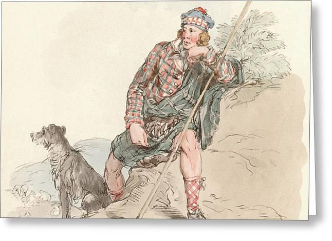 Highland Shepherd Greeting Card